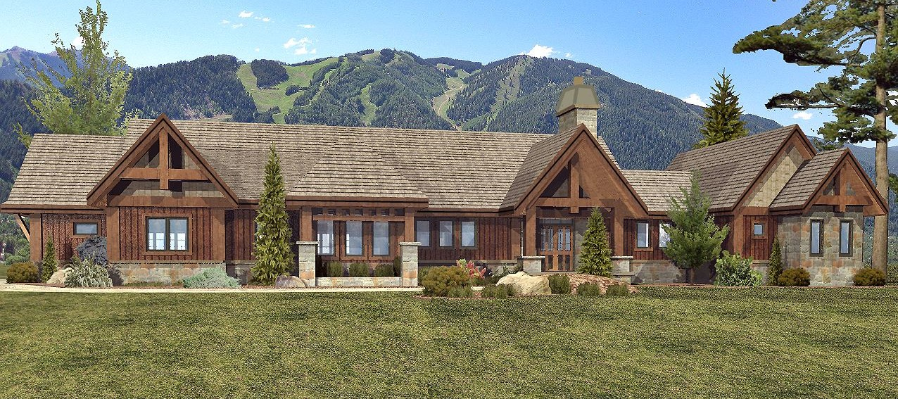 Keystone - Front Rendering by Wisconsin Log Homes 1