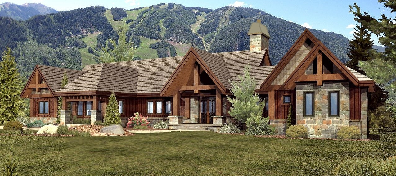 Keystone - Front Rendering by Wisconsin Log Homes 2