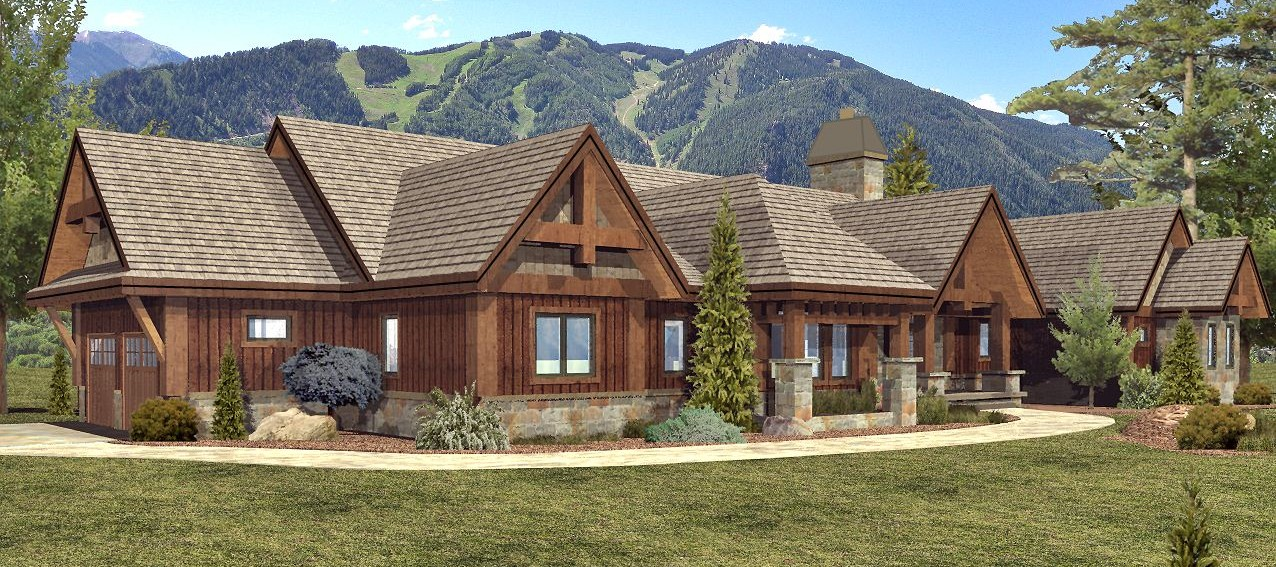 Keystone - Front Rendering by Wisconsin Log Homes