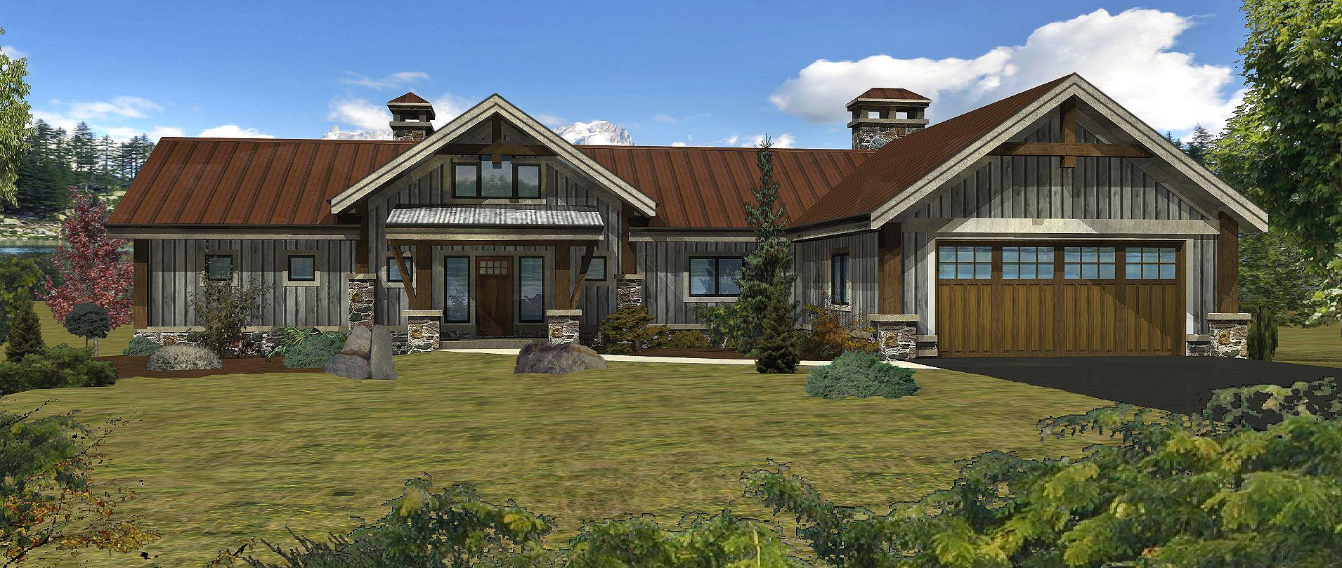 Bear River - Front Rendering by Wisconsin Log Homes 2
