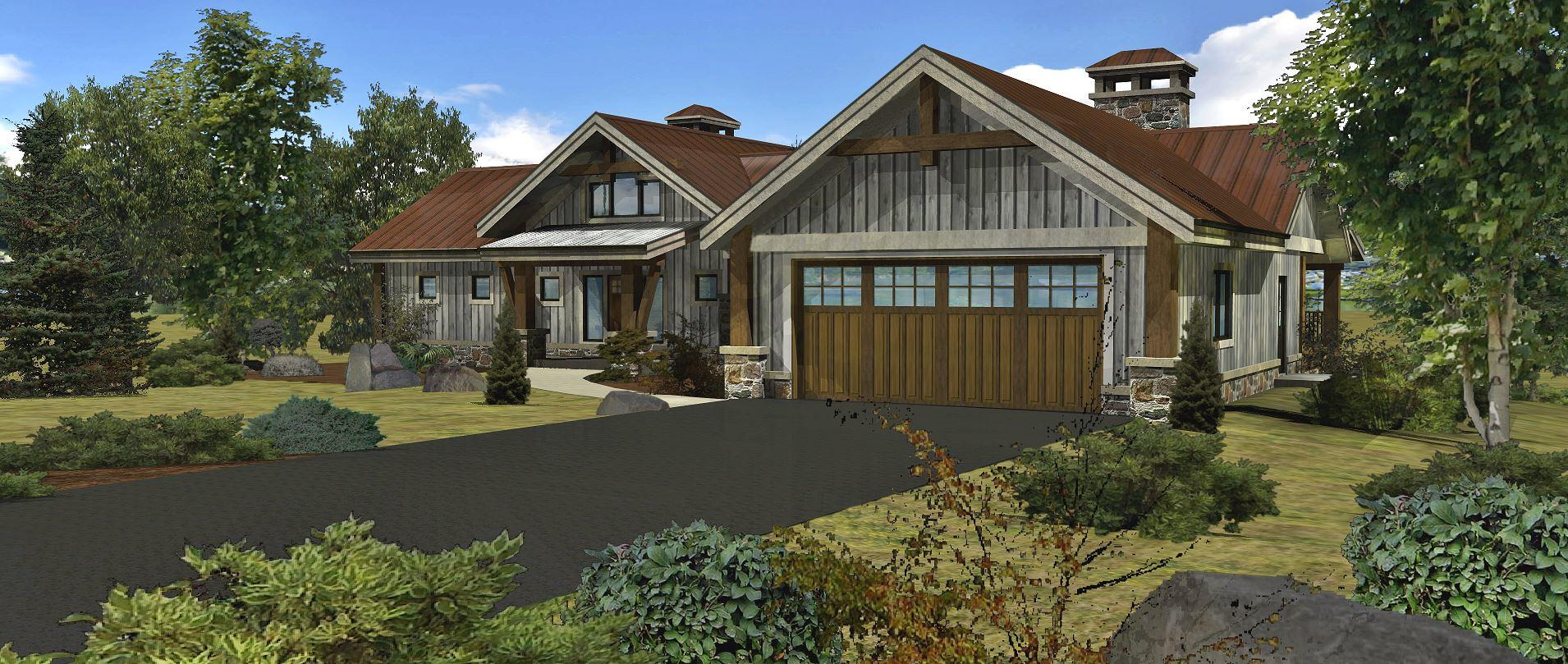 Bear River - Front Rendering by Wisconsin Log Homes 3