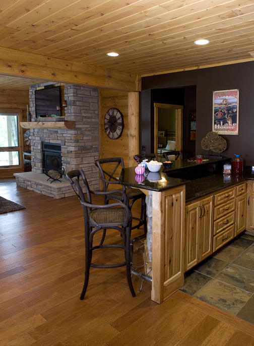 Fourwinds Lodge by Wisconsin Log Homes 11