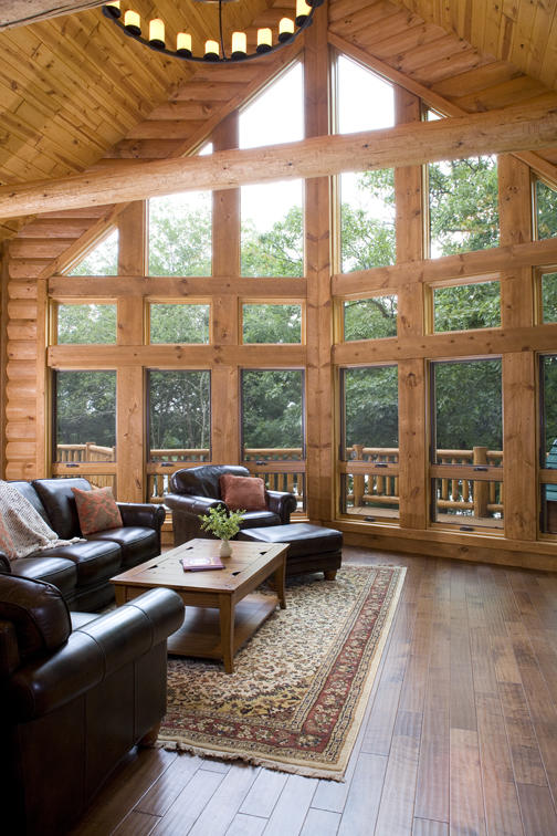 Fourwinds Lodge by Wisconsin Log Homes 25