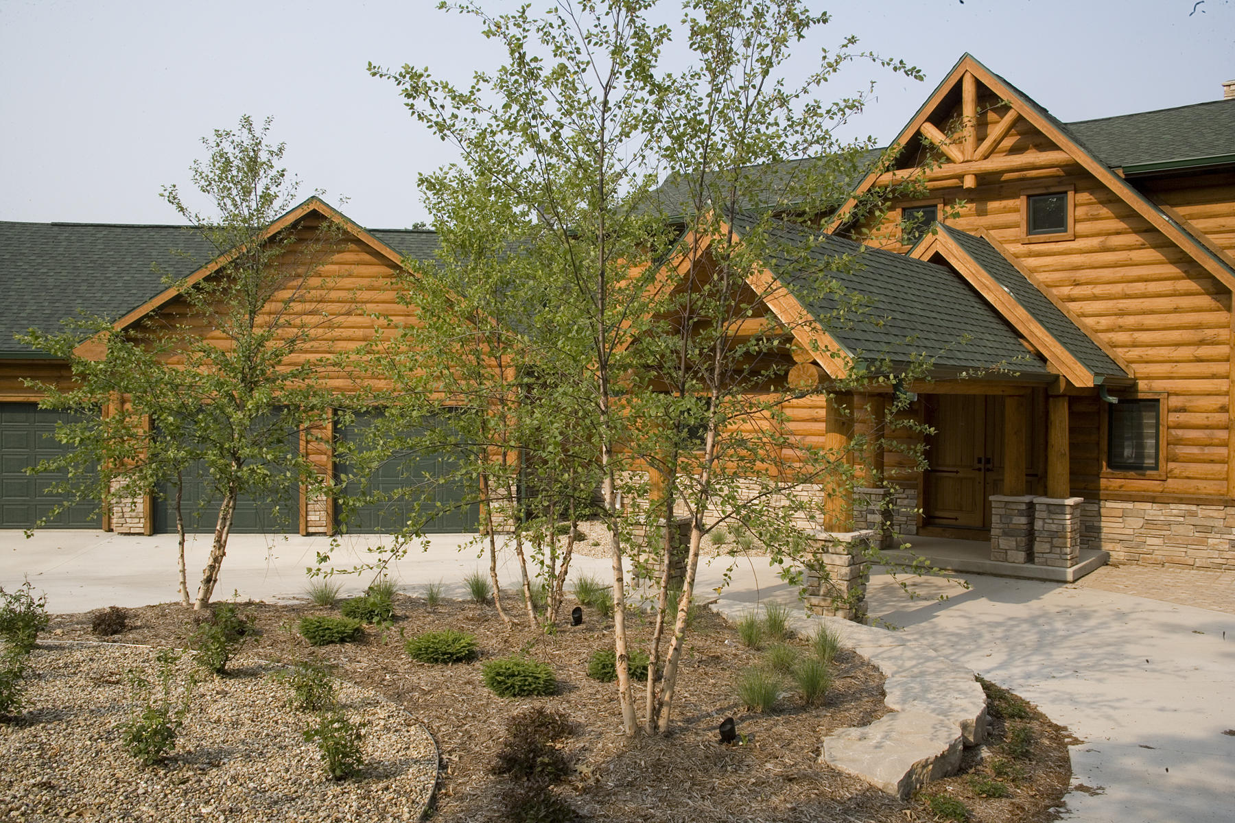 Fourwinds Lodge by Wisconsin Log Homes 33