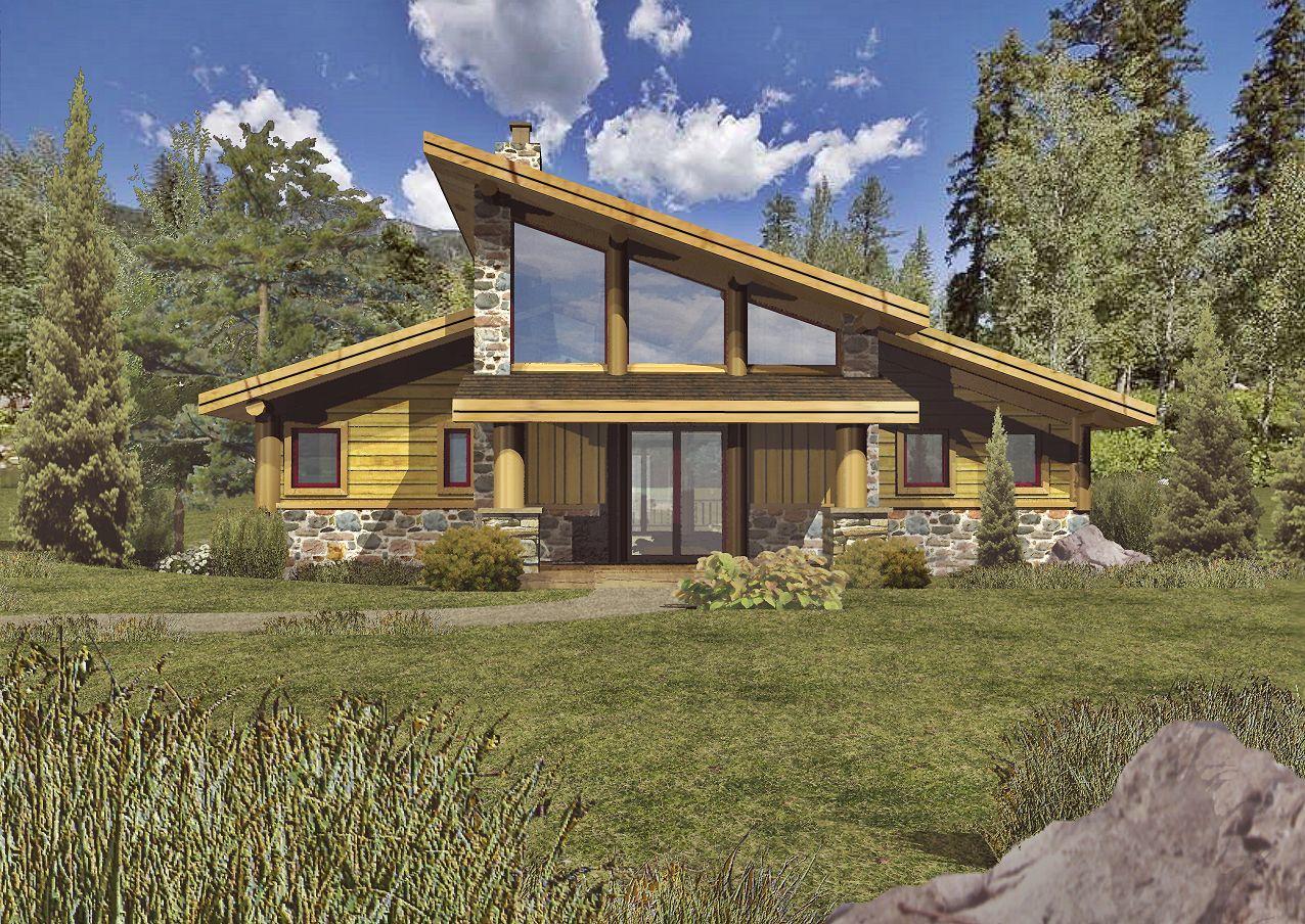 Grandview II - Front Rendering by Wisconsin Log Homes 1
