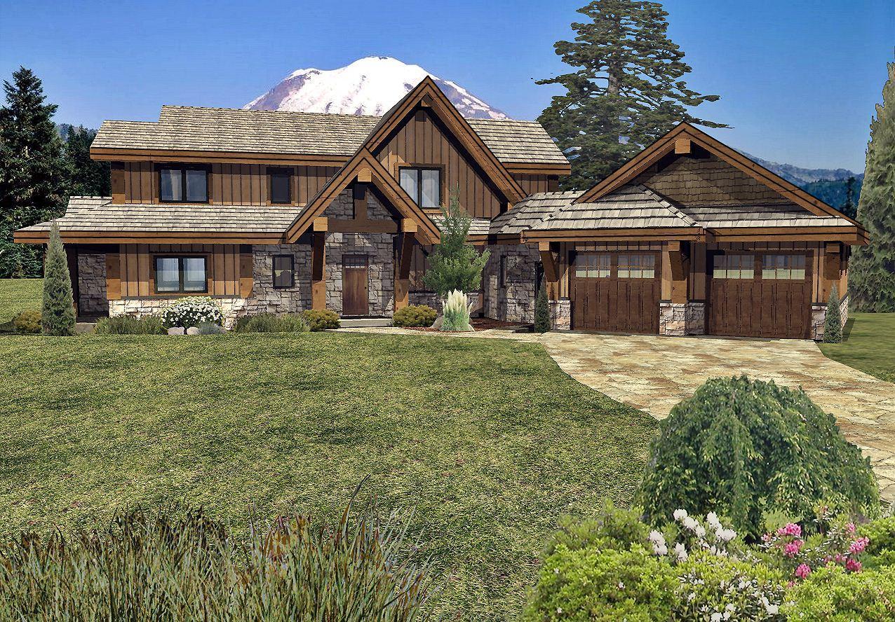 Grayson Peak II - Front Renderings by Wisconsin Log Homes Inc 2