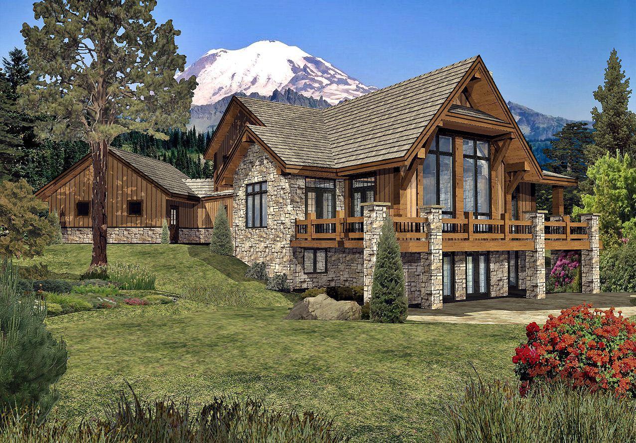 Grayson Peak II - Rear Renderings by Wisconsin Log Homes Inc 3