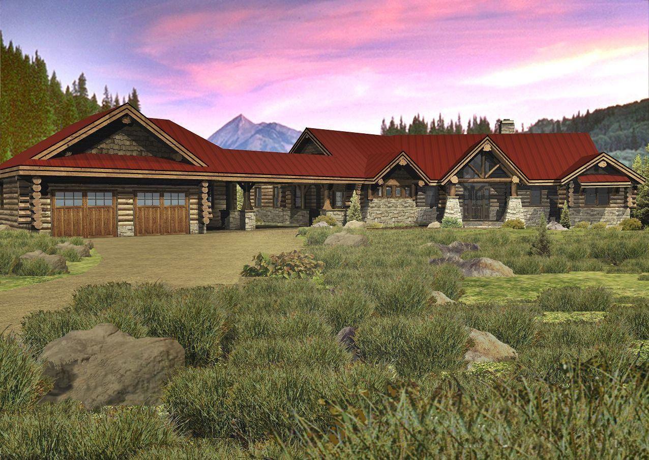 Kodiak Trail - Front Rendering by Wisconsin Log Homes
