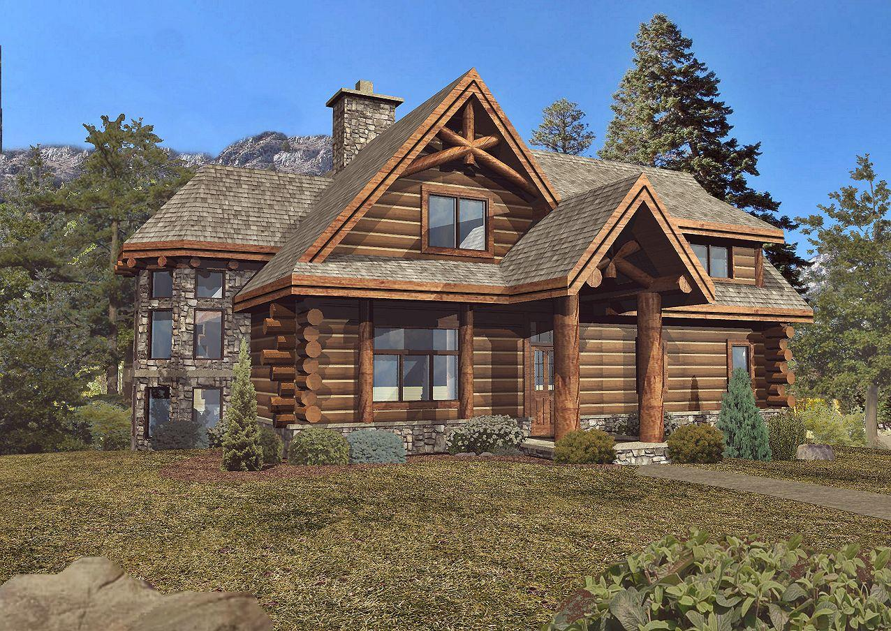 Laredo - Front Rendering by Wisconsin Log Homes