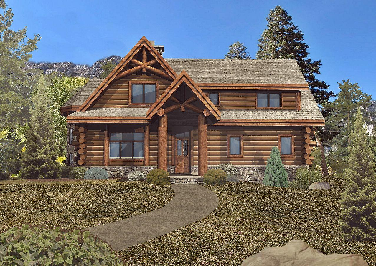 Laredo - Front Rendering by Wisconsin Log Homes 1