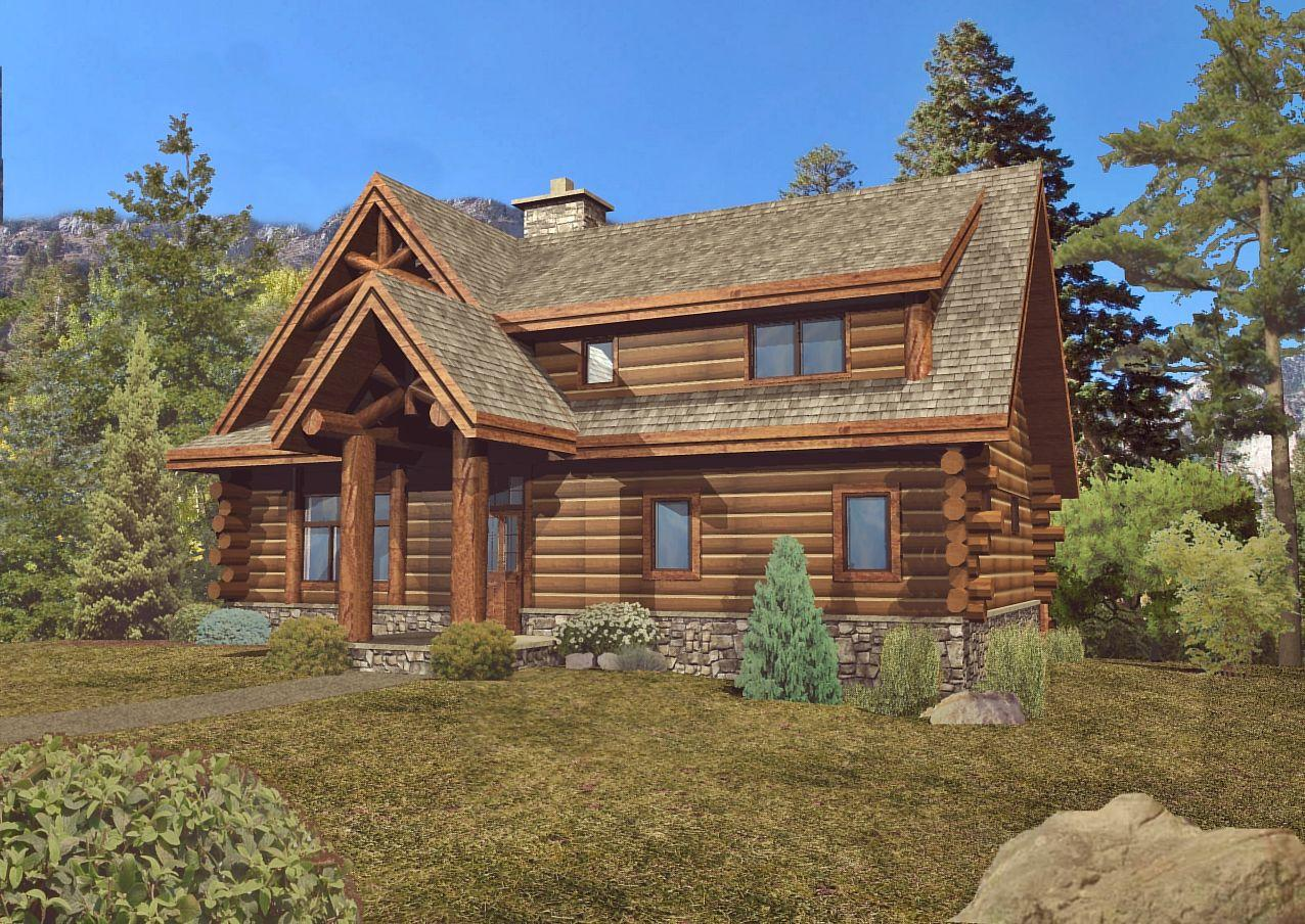 Laredo - Front Rendering by Wisconsin Log Homes 2