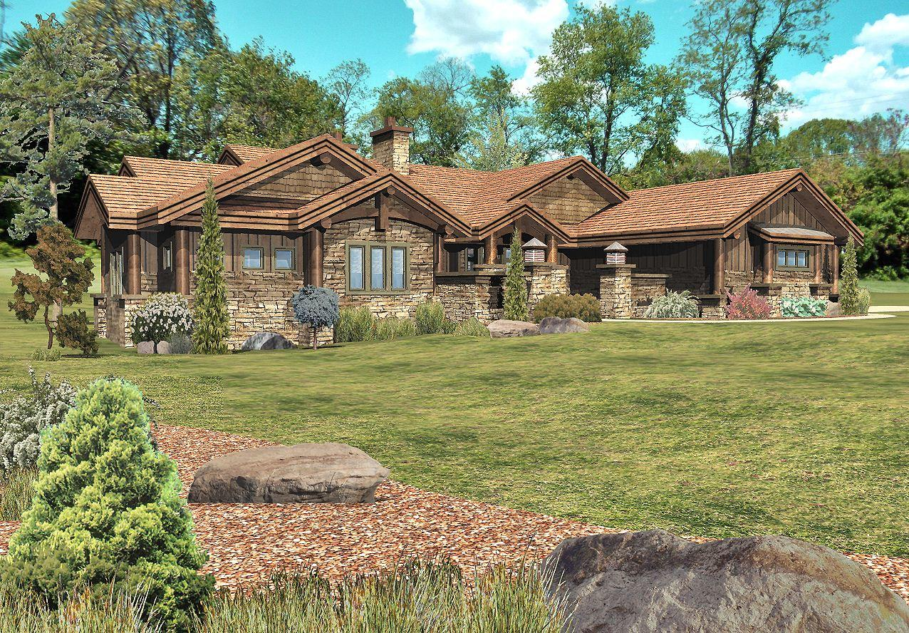 Stillwater - Front Rendering by Wisconsin Log Homes 2
