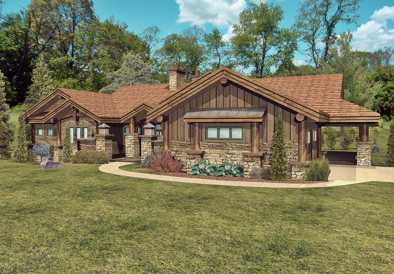Stillwater - Front Rendering by Wisconsin Log Homes 3